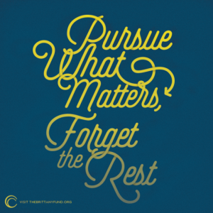 pursue what matters